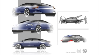 James A Smith – James's proposal aimed to deliver an evolutionary D-segment design with strong proportions and luggage areas front and rear.