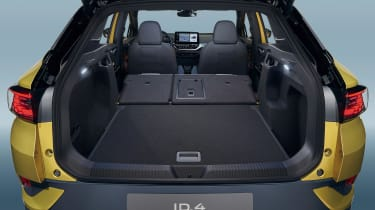 Volkswagen ID.4 SUV boot seats folded