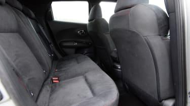 Nissan Juke Nismo RS rear seats
