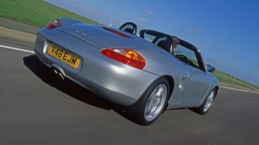 Porsche Boxster - rear 3/4 tracking