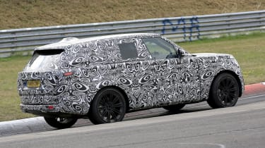2022 Range Rover - rear 3/4 view passing
