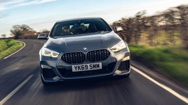 BMW M235i Gran Coupe saloon front driving