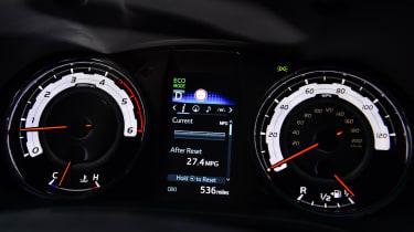 Toyota Hilux pickup gauges