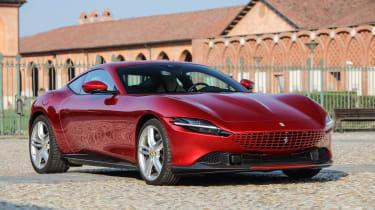 Ferrari Roma coupe front 3/4 courtyard