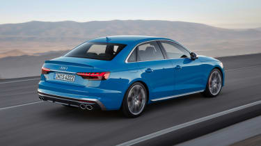 Facelifted Audi S4 - rear driving