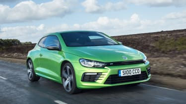 The Volkswagen Scirocco R is an attractive coupe with a powerful petrol engine
