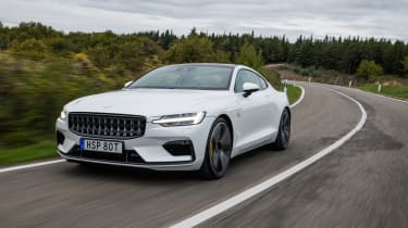 Polestar 1 coupe front 3/4 tracking