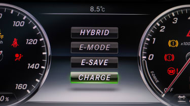 Various modes can be selected to tailor the S500e's hybrid power to any situation