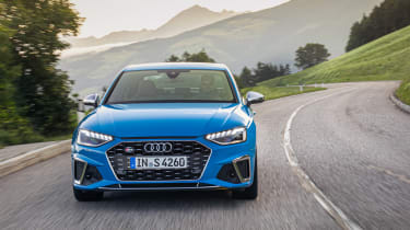 Audi S4 saloon front driving