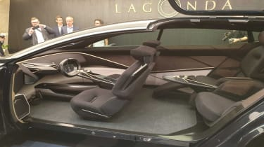 Lagonda All-Terrain SUV concept Geneva side profile interior