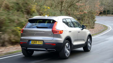 Volvo XC40 SUV rear 3/4 tracking