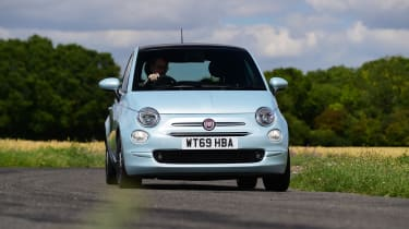 Fiat 500 mild hybrid front cornering