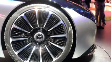 Mercedes EQS electric saloon concept - wheel close up - Frankfurt