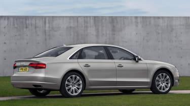 Audi A8 2014 rear quarter static