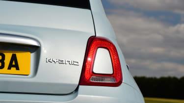 Fiat 500 mild hybrid rear badge