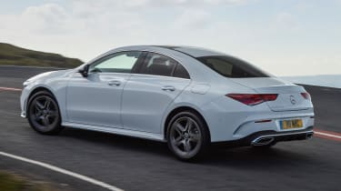 Mercedes CLA saloon rear 3/4 cornering