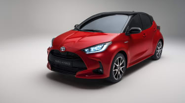 2020 Toyota Yaris - front 3/4 view studio