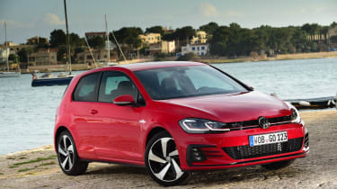 The GTI's styling has been subtly updated with new headlights and redesigned bumpers featuring aggressive air intakes