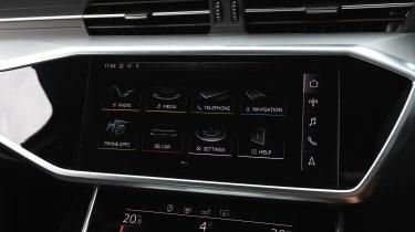 Audi A6 saloon infotainment display
