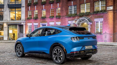 2020 Ford Mustang Mach-E in London - static rear 3/4