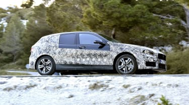 2019 BMW 1 Series pre-production side driving