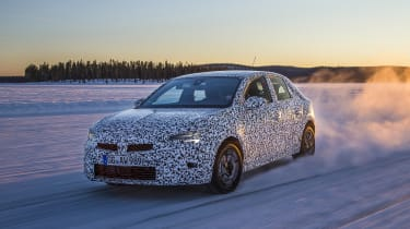 2019 Vauxhall Corsa Prototype drive testing