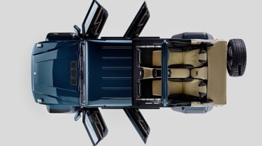 The Landaulet's rear seats come from the Mercedes S-Class, and can be fully reclined