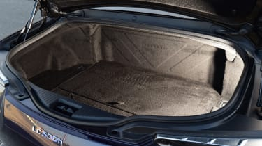 The boot of the hybrid model is only 172 litres, meaning it's capable of carrying a few squishy bags and not much more.