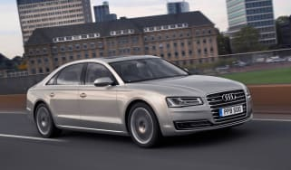 Audi A8 2014 front quarter tracking