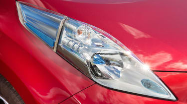 The Nissan Leaf's large headlights are one of its most distinctive features