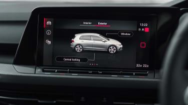 Volkswagen Golf GTI hatchback infotainment display