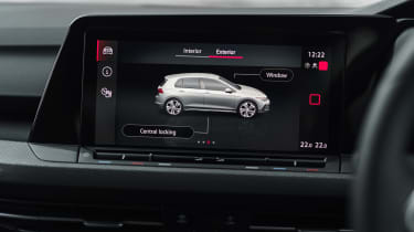 Volkswagen Golf GTI hatchback infotainment display
