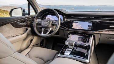 Audi Q7 SUV steering wheel