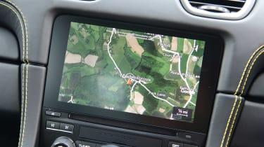 Porsche 718 Cayman coupe infotainment display