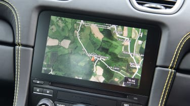 Porsche 718 Cayman coupe infotainment display
