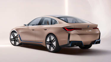 2021 BMW Concept i4 - rear 3/4 view