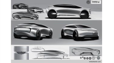 Xingnan Cai – Xingnan's proposal was for a crossover that reflected its powertrain with its raised ride height and strong feature line running around the car.