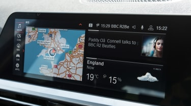 BMW 3 Series Touring infotainment screen