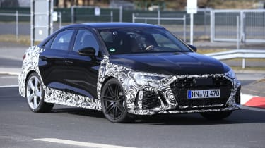 2021 Audi RS3 saloon prototype driving
