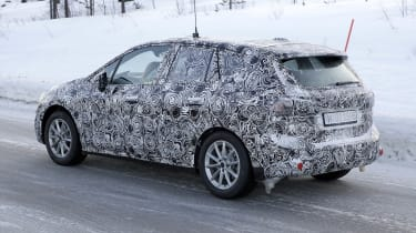 BMW 2 Series Active Tourer in camouflage - rear/side