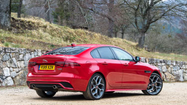 Jaguar XE saloon rear 3/4 static