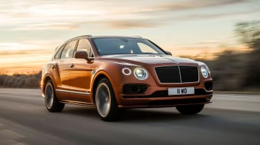 Bentley Bentayga Speed nose tracking
