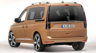 Volkswagen Caddy in brown - rear
