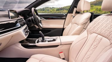 BMW 7 Series saloon - front interior side view