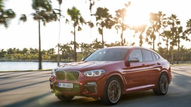 BMW X4 tracking shot, front left