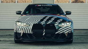 New BMW M4 camouflaged front end
