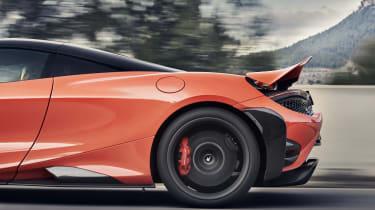 McLaren 765LT - rear quarter with spoiler raised