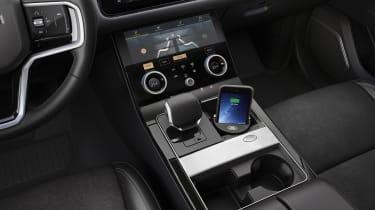 2021 Range Rover Velar P400e plug-in hybrid interior - wireless phone charging