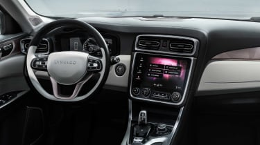 Like the outside, the 01's interior is conventional enough