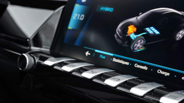 Peugeot 508 plug-in hybrid dashboard buttons